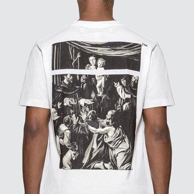 [UNISEX] カラバジオアートプリントTシャツ/半袖 (2color)