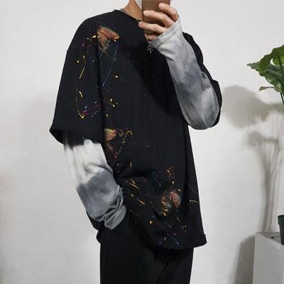 [UNISEX] マルチペイントTシャツ/半袖 (2color)