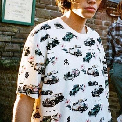 [UNISEX] 車コレクションTシャツ/半袖