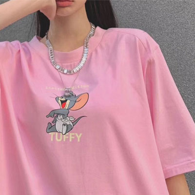[UNISEX] ファニーマウスプリントTシャツ/半袖 (3color)