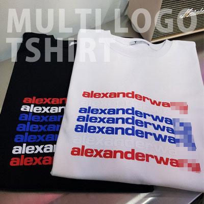 [UNISEX] マルチロゴレタリングTシャツ/半袖 (2color)