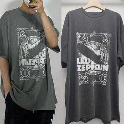 [UNISEX] ZEPPELINピグメントTシャツ/半袖 (2color)