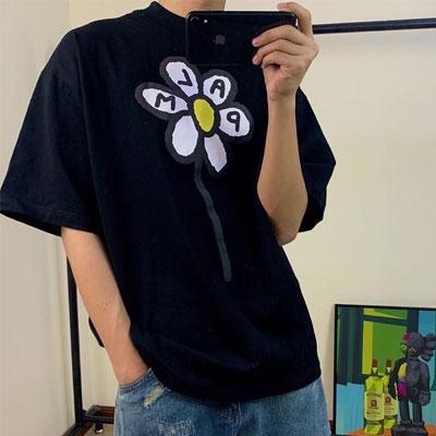 [UNISEX] ビッグフラワーTシャツ/半袖
