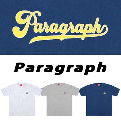 [Paragraph] 筆記体tシャツ/半袖 (3color)