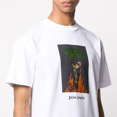 [UNISEX] パームツリースケルトンTシャツ/半袖