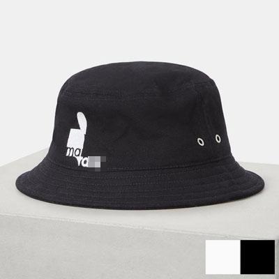[UNISEX] ブラック&ホワイトのハーフバケットハット (2color)