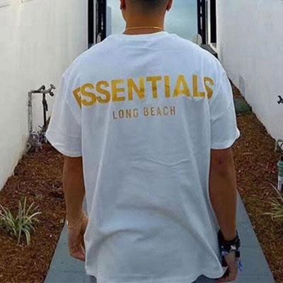 [UNISEX] ロングビーチゴールドロゴTシャツ/半袖