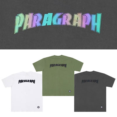 [Paragraph] ベーシックフォントスコッチtシャツ/半袖 (3color)