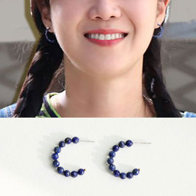 When the camellia blooms/Gong Hyojin/コンヒョジン st. ジェムストーン925ピアス (2color)
