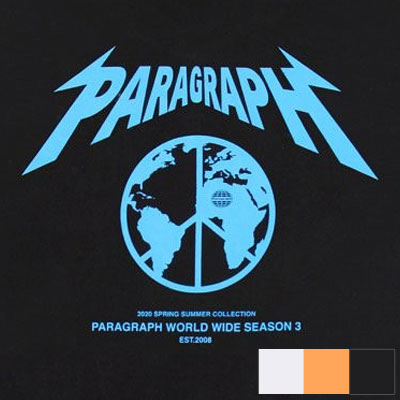 [Paragarph] ピースtシャツ/半袖 (3color)