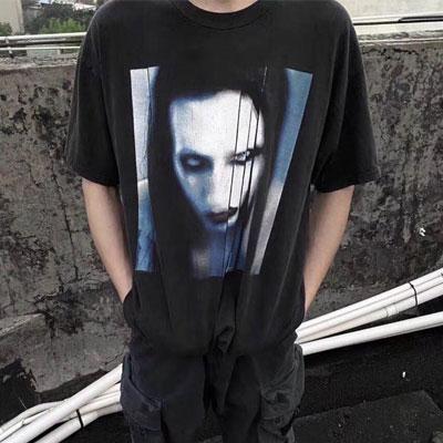[UNISEX] マリリンフェイスTシャツ