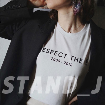 [STAND_J] RESPECT Tシャツ/半袖 (2color)