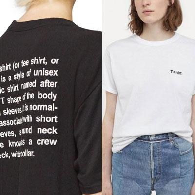 [UNISEX] レタリングTシャツ/半袖 (2color)