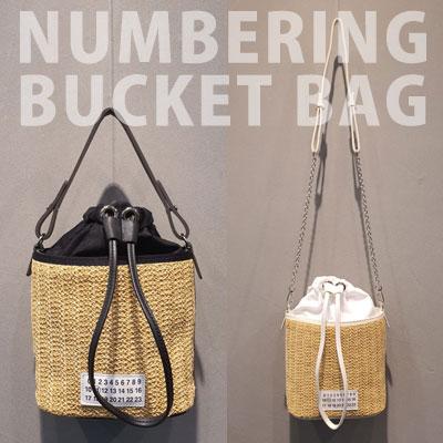 ナンバリングバケットバッグ(2color)