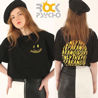 【ROCK PSYCHO】パラノイズtシャツ/半袖 -Black