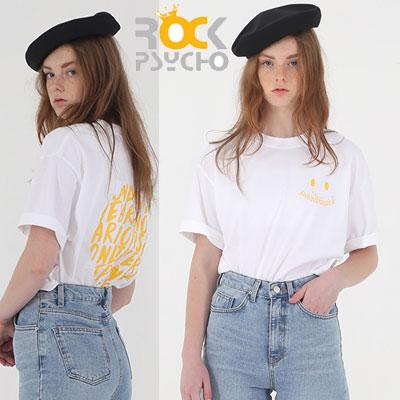 【ROCK PSYCHO】パラノイズtシャツ/半袖 -White