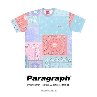 [Paragraph] バンダナパターンtシャツ/半袖