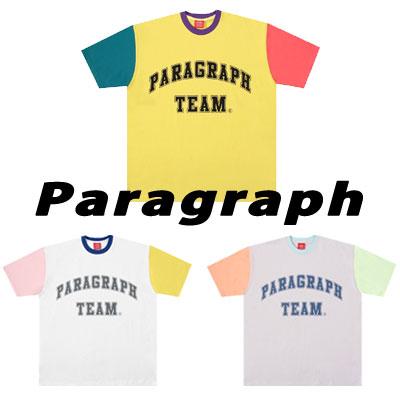 [Paragraph] カラーブロックtシャツ/半袖 (3color)