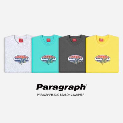 [Paragraph] スカイボーダーtシャツ/半袖 (4color)