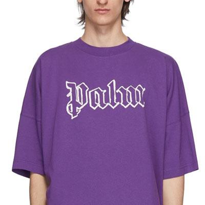[UNISEX] ラインレタリングシンプルTシャツ/半袖 (2color)