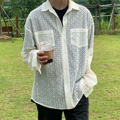[UNISEX] オールパンチングロングスリーブシャツ (2color)