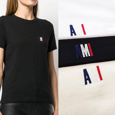 [UNISEX] ブルーホワイトレッドロゴTシャツ/半袖 (3color 4size)