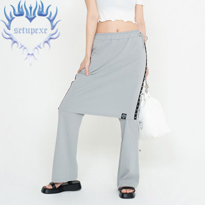 【SETUP-EXE】Skirt layered Pt - grey
