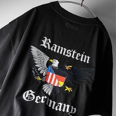 [UNISEX] イーグルフラグロゴTシャツ/半袖 (2color)