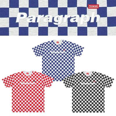 [Paragraph] チェッカーボードtシャツ/半袖 (3color)