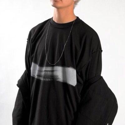 [UNISEX] ワンタッチポイントTシャツ/半袖