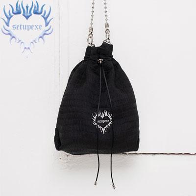 【SETUP-EXE】Ball chain bucket Bag - black