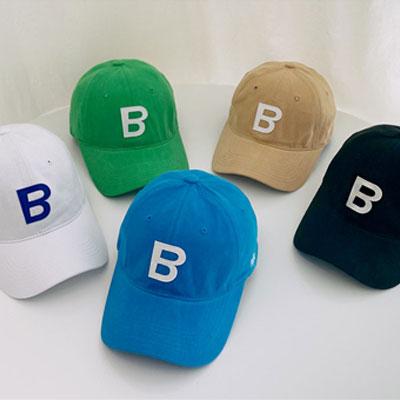 [UNISEX] B アップリケボールキャップ (5color)