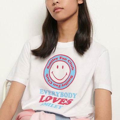[STAND_J] スマイリーファンクラブTシャツ/半袖 (2color)