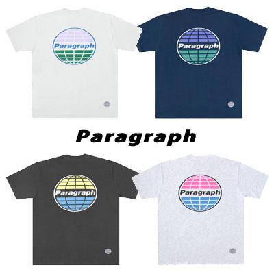 [Paragraph] ハーフカラーtシャツ/半袖 (4color)