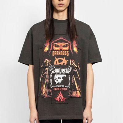 [UNISEX] ダークネスパッチTシャツ/半袖