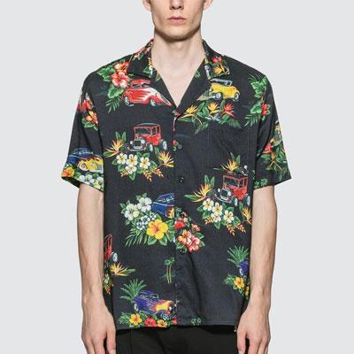 [UNISEX] フラワーパターンハワイアンシャツ