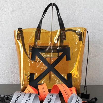 [UNISEX] イエロークリアショッパーバッグ