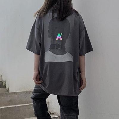 [UNISEX] バックヘッドプリントTシャツ/半袖