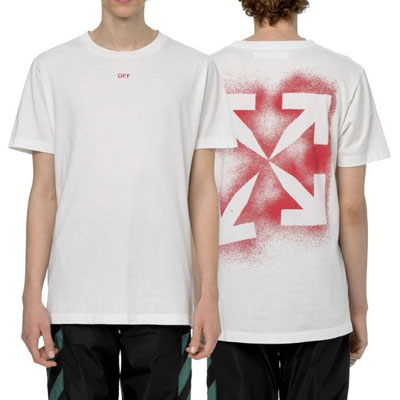 [UNISEX] ステンシルアロースプレーTシャツ/半袖 (2color)