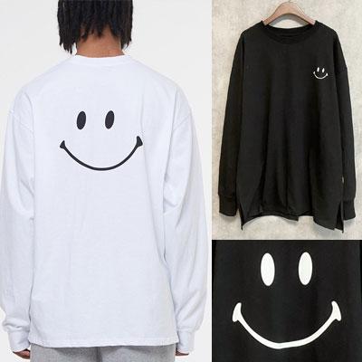 [UNISEX] スマイルロングスリーブTシャツ/長袖 (2color)