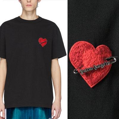 [UNISEX] ピンハートポイントTシャツ/半袖 (2color)