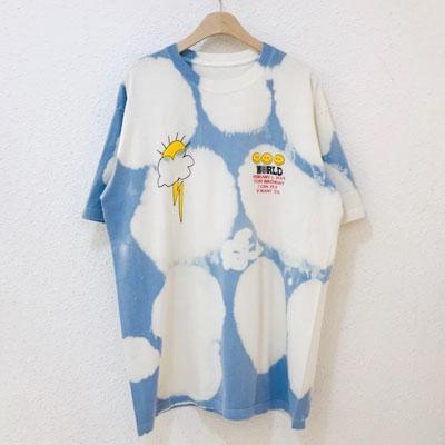 [UNISEX] クラウドタイ - ダイTシャツ/半袖