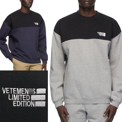 [UNISEX] ツートーンリミテッドロゴスウェットシャツ (2color)