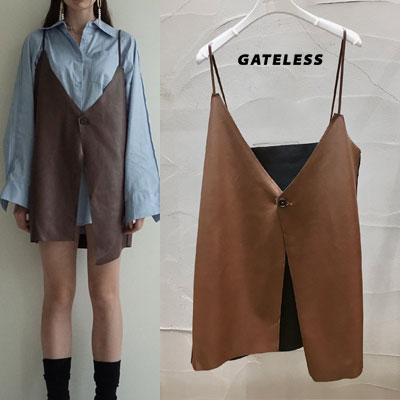 【GATELESS】レザーベスト (2color)