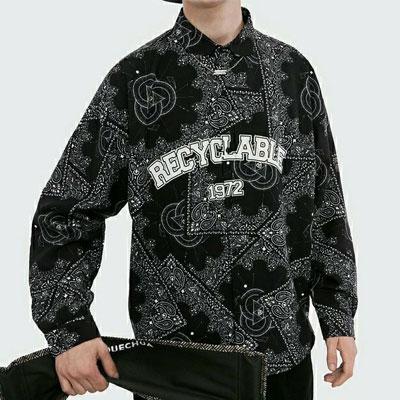 [UNISEX] ペイズリーリサマイカブルシャツ