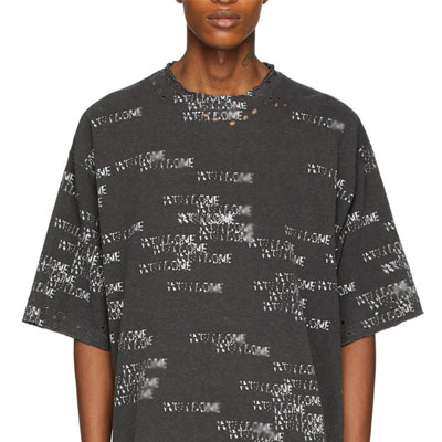 [UNISEX] オールオーバーロゴダメージTシャツ/半袖