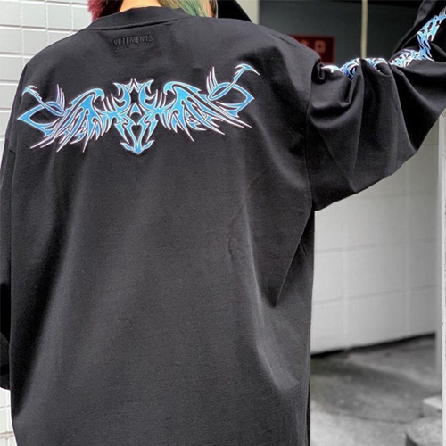 [UNISEX] スカイレタリングロングスリーブTシャツ (2color)