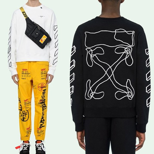 [UNISEX] ラインアロースウェットシャツ (2color 2size)