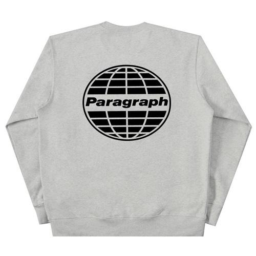 [Paragraph] クラシック地球プリントスウェットシャツ/長袖 (6color)