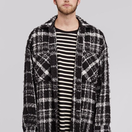 [UNISEX] ブークレファブリックブラックシャツ